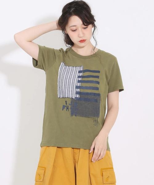 OE天竺クルーTシャツ