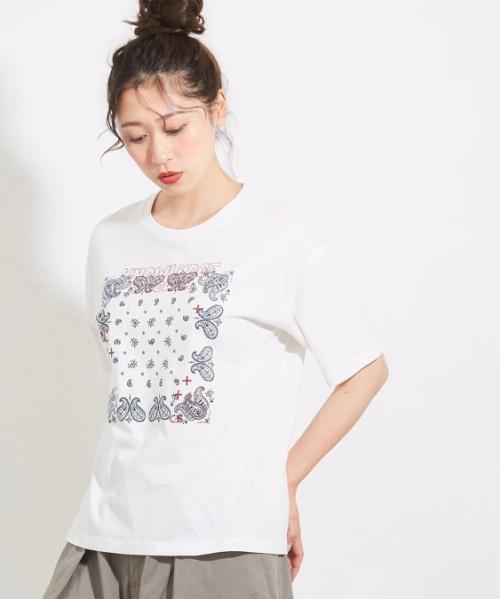 20/-天竺ステッチクルーTシャツ