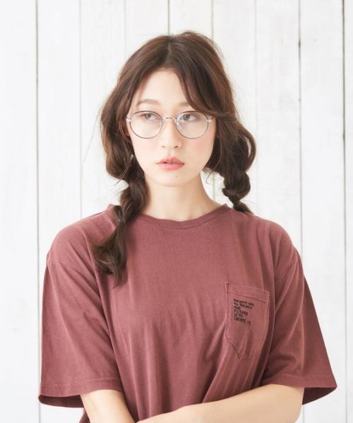 30/-天竺ピグメント染めポケットステッチクルーTシャツ
