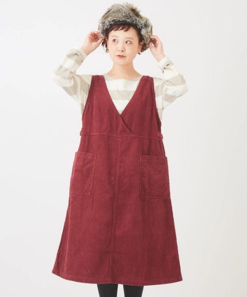 親子コールジャンパースカート