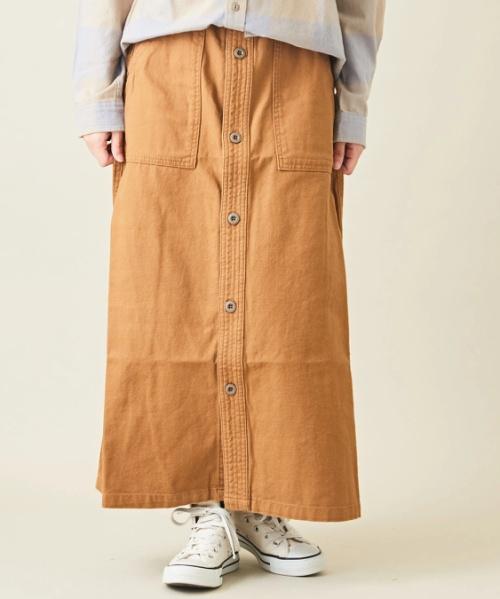 ダックキャンバスAラインスカート