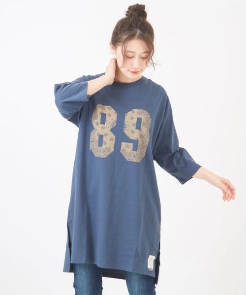 【セール除外商品】さくら並木プロジェクト オーガニックコットン Tシャツワンピース