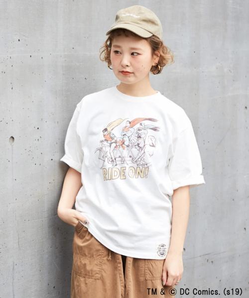 【セール除外商品】天竺ジャスティスリーグプリント クルーネックTシャツ