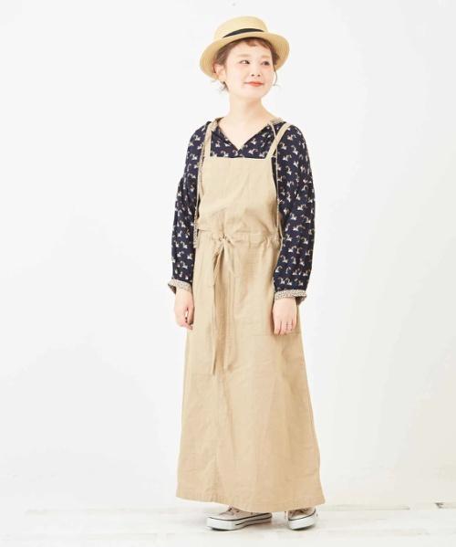 綿麻スラブ ジャンパースカート