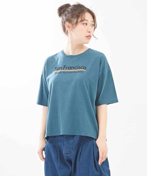 天竺 ピグメント染め ボックスTシャツ