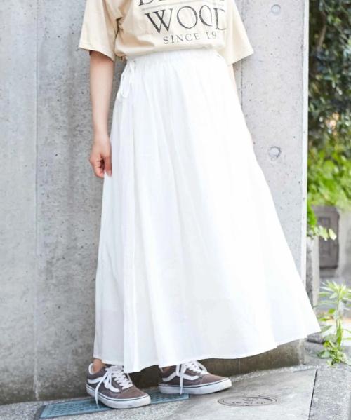 シジラ サイドリボン ギャザースカート