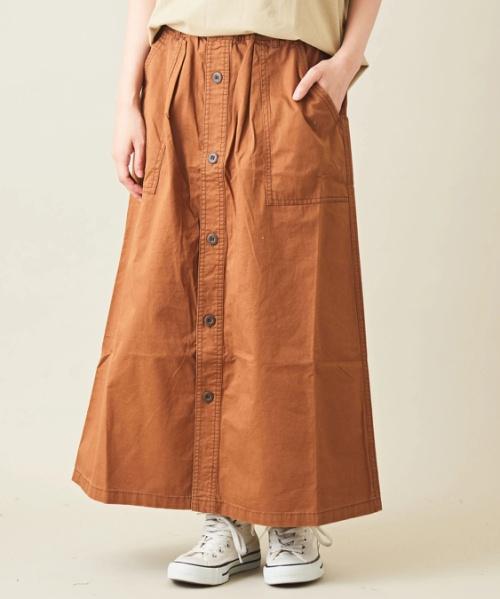 綿ツイル Aライン ベーカースカート