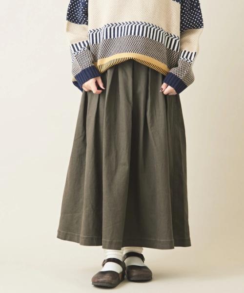 ストレッチツイル タック スカート