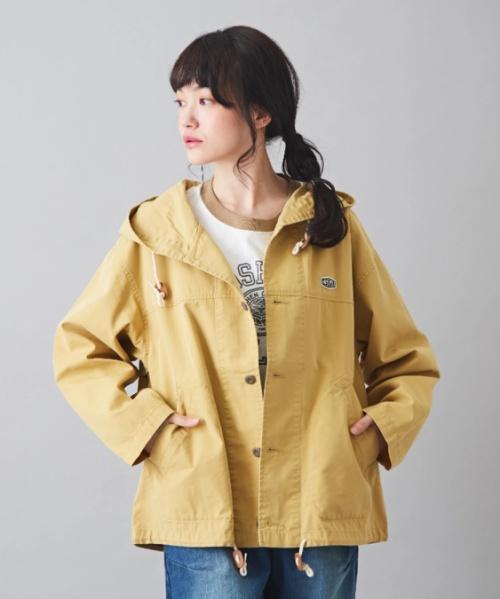 綿ナイロンツイル パーカー ジャケット