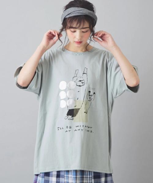 【セール除外商品】さくら並木プロジェクト 天竺 オーガニックコットン クリエイターズコラボ ビッグTシャツ