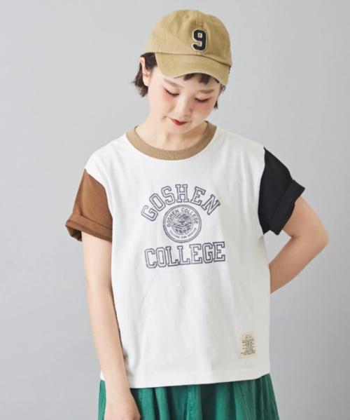 OE×スラブ プレーティング天竺 脇切替 Tシャツ