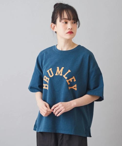 CVC空紡糸天竺 製品染め 別地切替 クルーネック Tシャツ