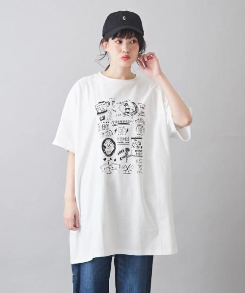 天竺 クリエイターズコラボ ビッグTシャツ