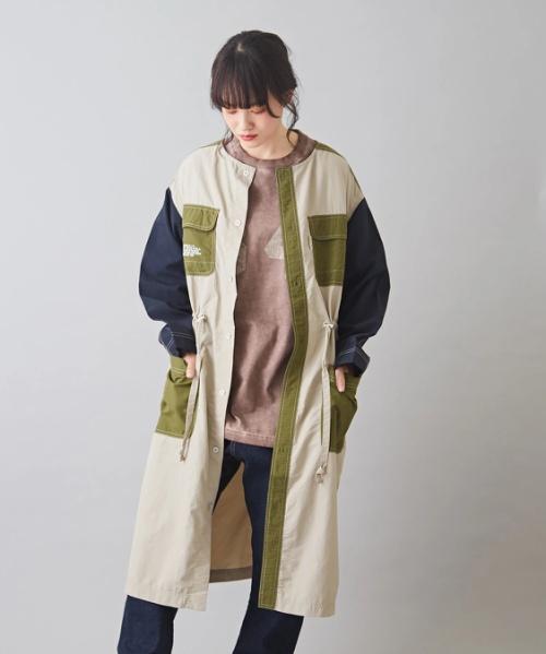 【セール除外商品】ナイロン ワッシャー ミリタリー ワンピース
