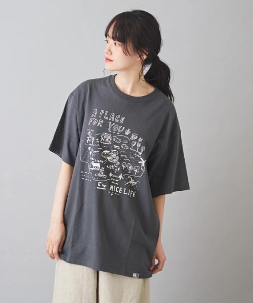 USコットン OE天竺 クリエイターズコラボ ビッグ クルーネック Tシャツ