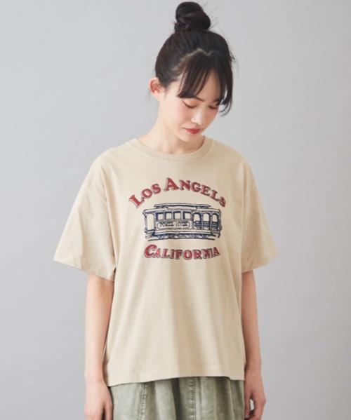 天竺 空紡糸 ピグメント染め クルーネック Tシャツ