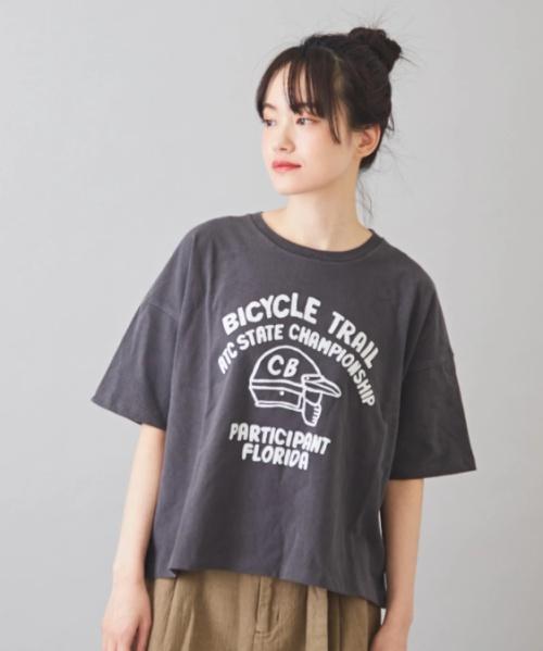 【再値下げ】天竺 空紡糸 ピグメント染め ボックス Tシャツ