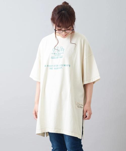 ビンテージ天竺 クルーネック チュニック Tシャツ