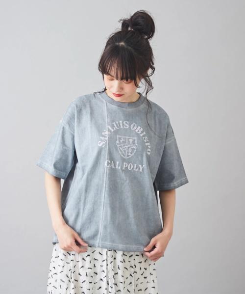 【再値下げ】OE天竺 低温染め 布帛 切替 Tシャツ