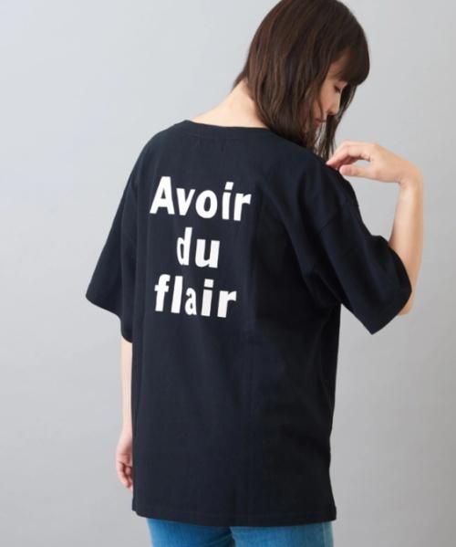 OE天竺 バックプリント クルーネック Tシャツ