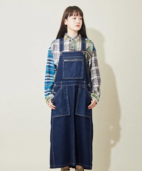 【セール除外商品】WEB限定 コンビデニム ジャンパースカート