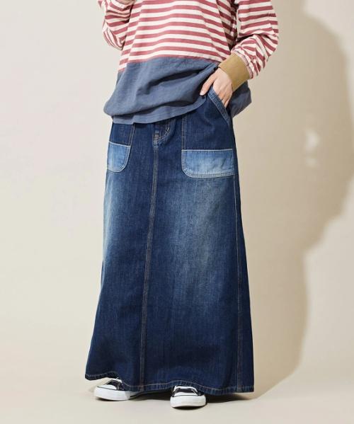 【セール除外商品】10.8オンス デニム ベーカースカート