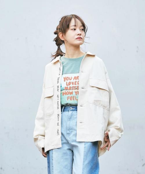 ★綿ツイル テープ付 ワークジャケット