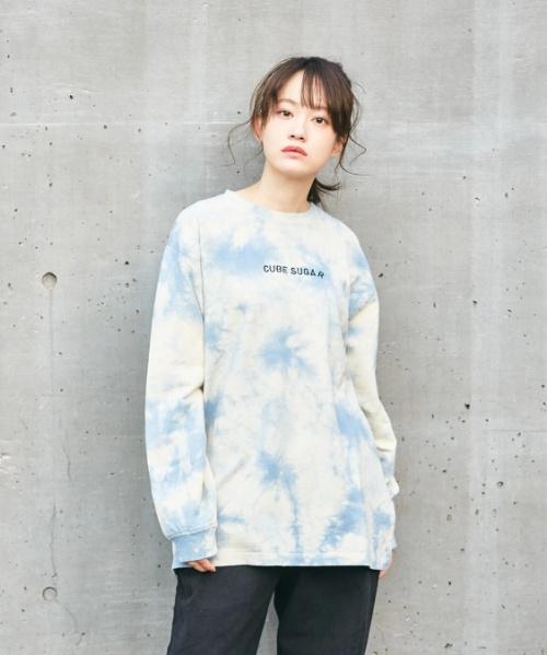 ★ミニ裏毛 スウェット タイダイ クルーネック Tシャツ