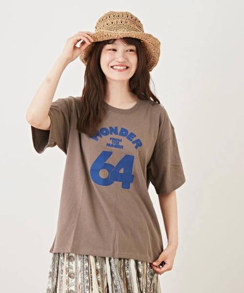 OE天竺空紡糸 プリントTシャツ