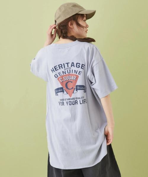OE天竺 ラウンドビッグTシャツ