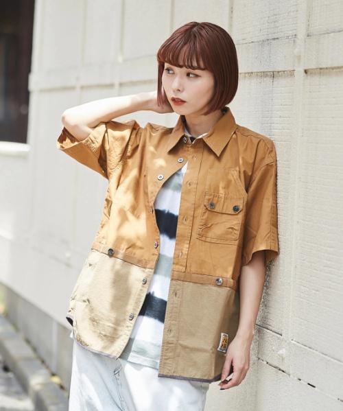 【セール除外商品】WEB限定 ポケット付き 半袖 ワークシャツ ユニセックス