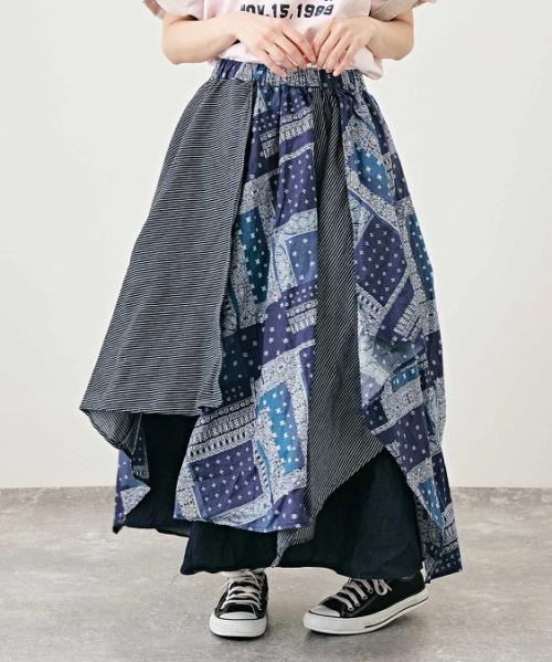 【返送料0円】【セール除外商品】WEB限定 バンダナMIX ランダム ヘムスカート