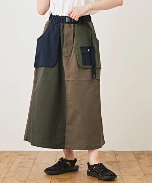 ストレッチツイル アウトドア クレイジーパターン スカート