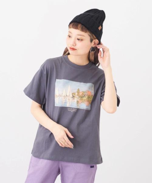 OE天竺 絵画Tシャツ