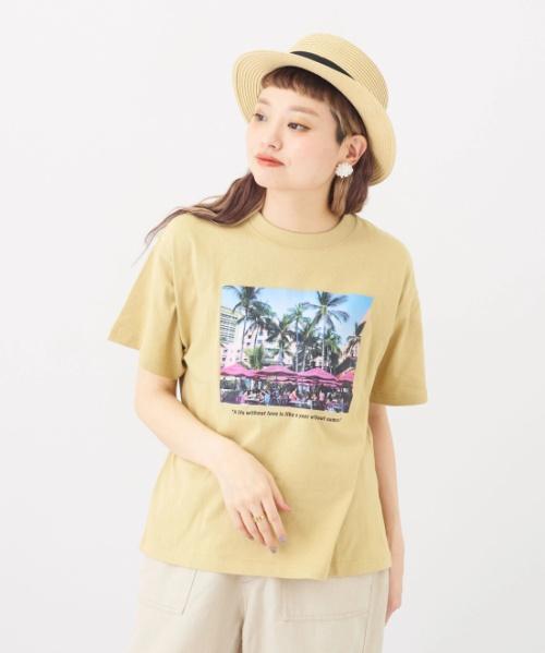 OE天竺 転写プリント Tシャツ