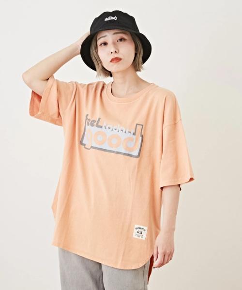 OE天竺 ピグメント染 ラウンドTシャツ