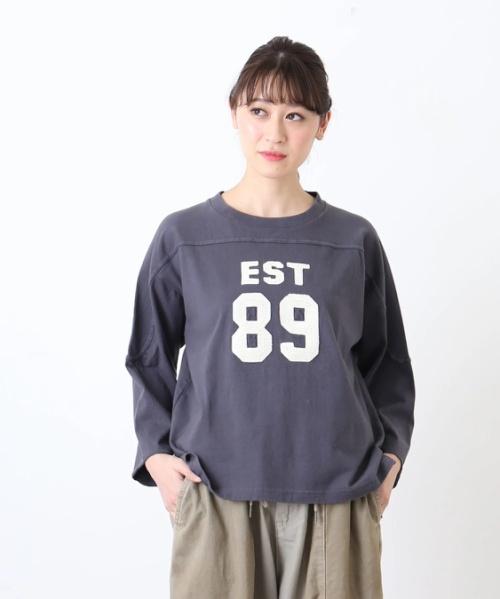 16/-天竺アメフトTシャツ