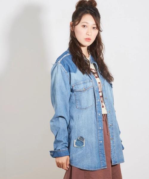 【セール除外商品】7.5ozデニムリメイクシャツ