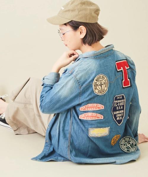 【セール除外商品】7.5ozデニムワッペンシャツ