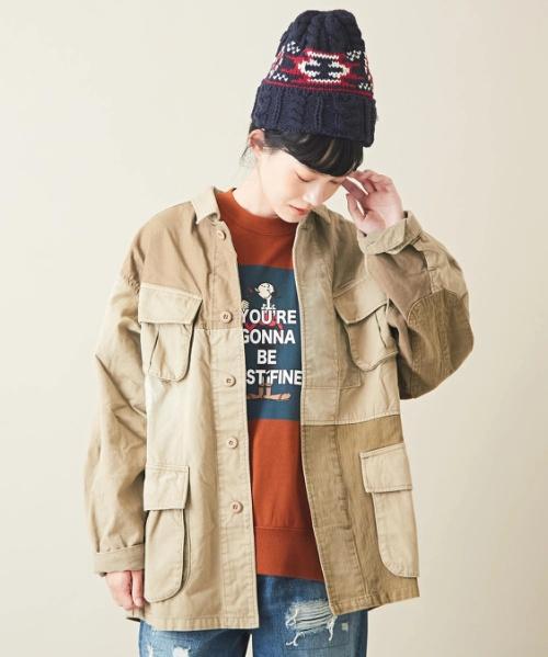 【セール除外商品】ピーチツイル+異素材ジャングルファティーグジャケット