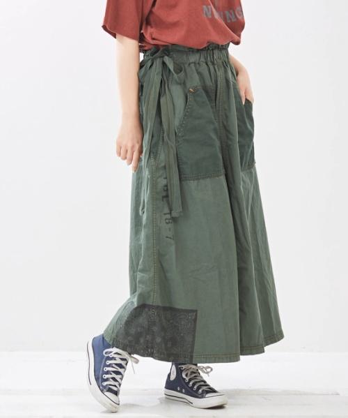 ライトツイル リメイク ギャザースカート