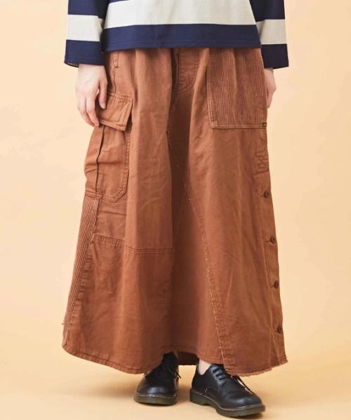 【セール除外商品】ピーチツイル リメイク風 スカート