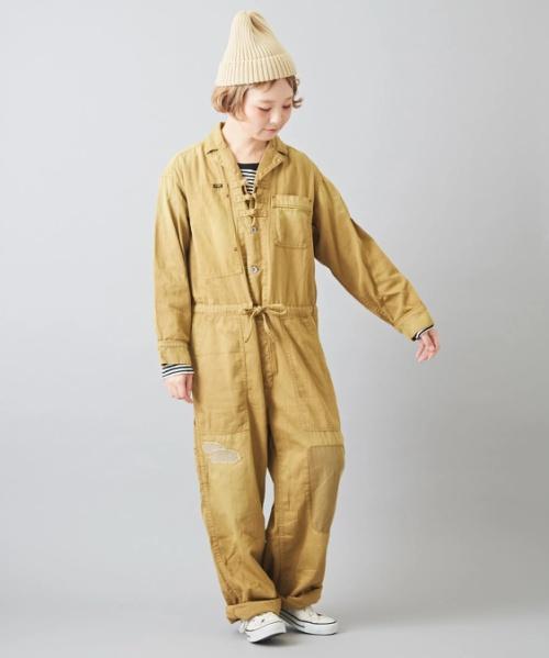 【セール除外商品】ミニヘリンボーン ジャンプスーツ