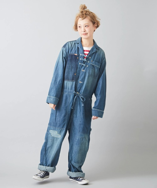 【セール除外商品】7.5オンス デニム ジャンプスーツ