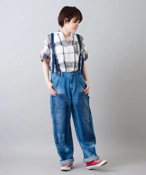 【セール除外商品】12オンス デニム サスペンダーパンツ