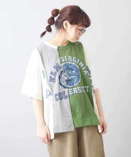【お試しキャンペーン対象】【セール除外商品】天竺 リメイク風 Tシャツ
