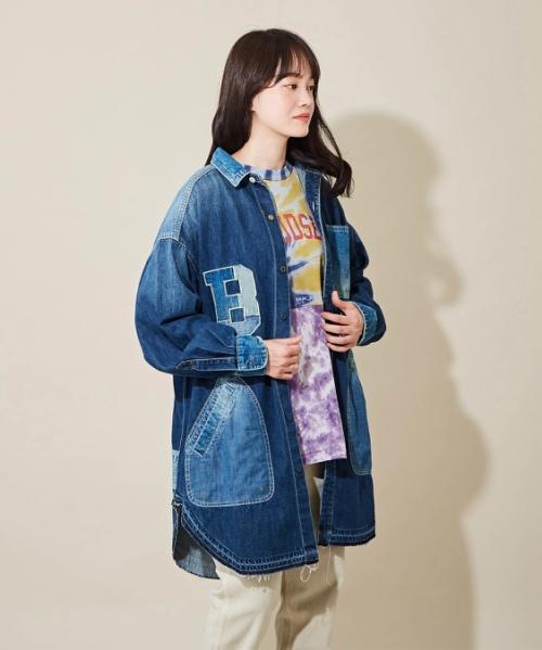 【セール除外商品】デニム×コーディロイ ワークシャツ ジャケット