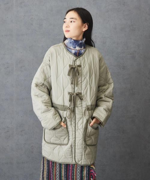 【セール除外商品】 ナイロン リップストップ 中綿キルト リバーシブル ジャケット