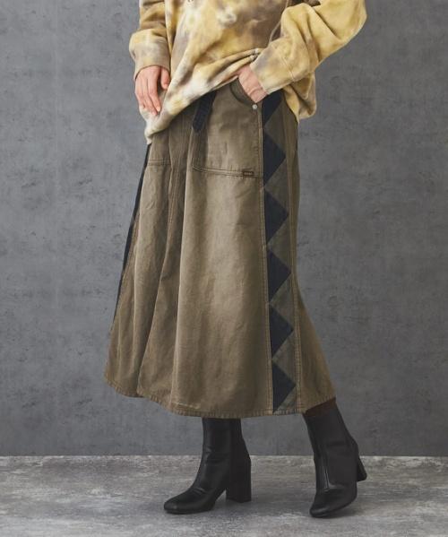 【セール除外商品】 ピーチツイル 裏使い サイドライン スカート