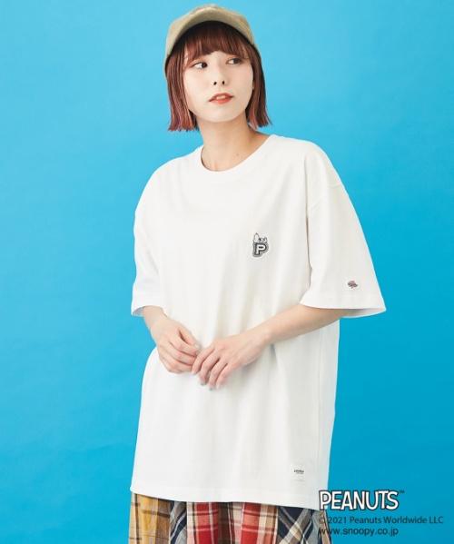 JEMORGAN×PEANUTS (ジェーイーモーガン×ピーナッツ) WEBオリジナル 天竺 刺繍 & プリント Tシャツ